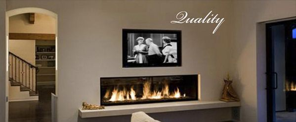 Linear Gas Fireplace With Tv Above And Shelf Below Add A