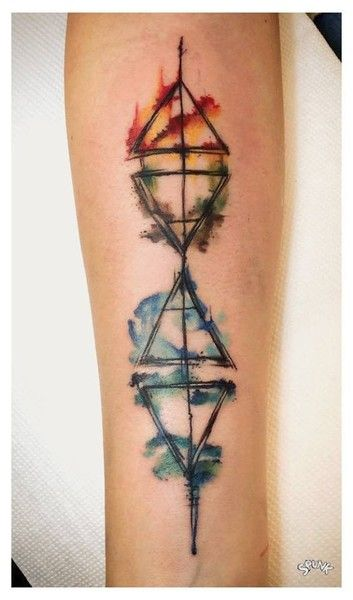 Hot & Cold - Triangular Tattoos That Beautifully Portray The Four Elements - Photos