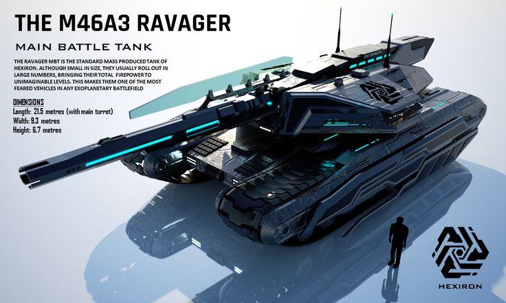 M46A3 Ravager Main Battle Tank (FULL HD) by Duskie360.deviantart.com on @DeviantArt