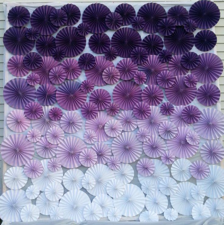 purple pinwheel backdrop - ombre | http://emmalinebride.com/decor/best-ombre-wedding-ideas/