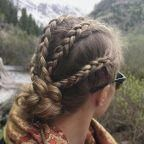 Boxer braids and low bun by Annette #boxerbraids -…