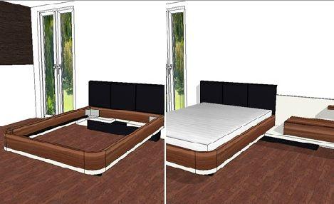 Hulsta Furnplan mioletto II indeling slaapkamer 3d tekening noten wit laque inrichting slaapkenner theo bot http://www.theobot.nl/collectie/7-kasten/93-hulsta-kasten.html