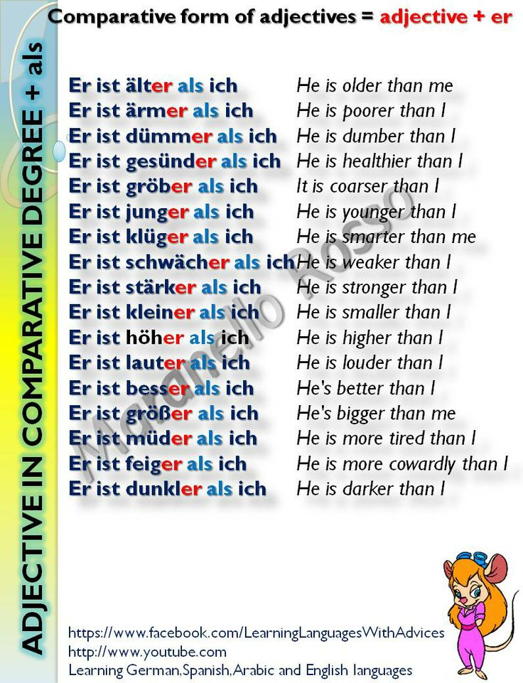 coperative form of adjectives: ...ist staerker als ich etc. #learngerman  http://www.uniquelanguages.com/#/german-courses/4578233852