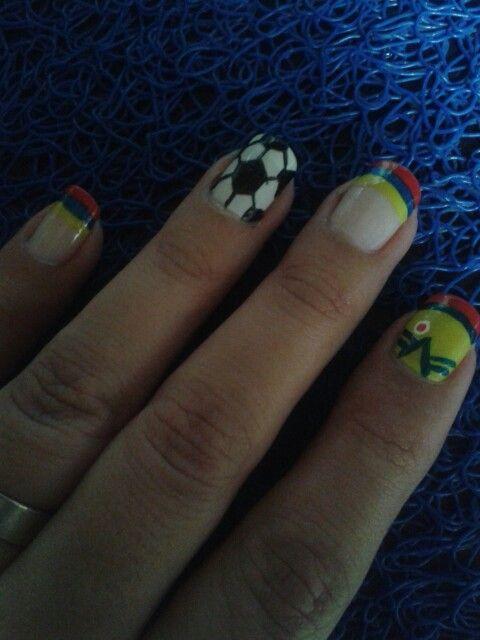 Uñas apoyando a mi Colombia!!!
