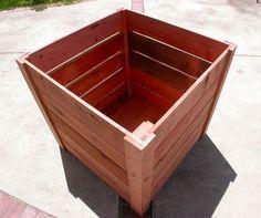 3x3x3 redwood planters garden craftsman compost bins planter boxes custom built for