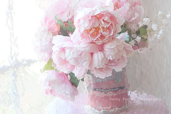 Pink Peonies Photography Dreamy Pastel Pink Peonies by KathyFornal