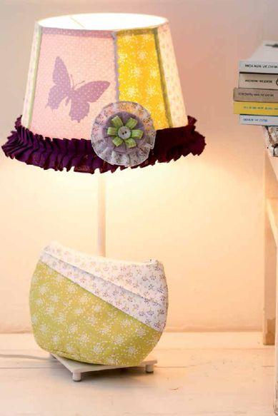 Lampenschirm im Landhausstil nähen