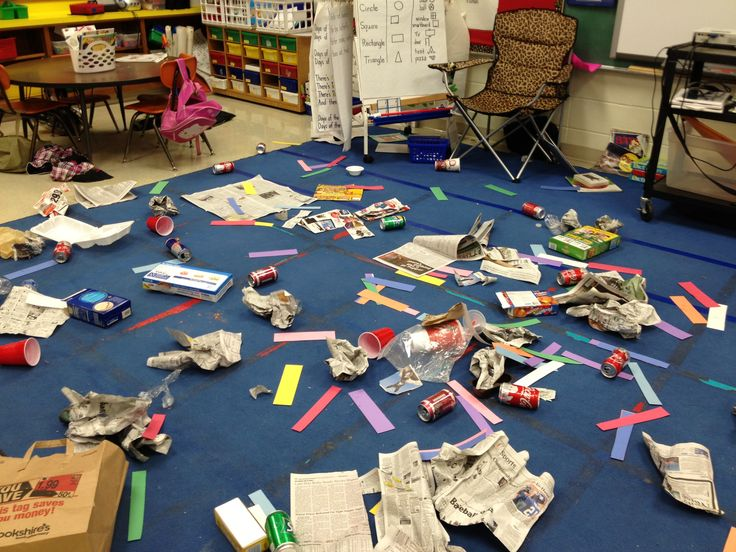Trash the Class Day - sorting and learning about recycling ...