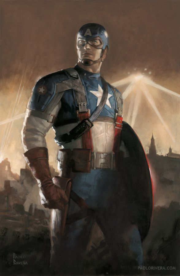 captain america 2 art for c2e2 poster | Captain America: First Draft , an extremely rare variant...