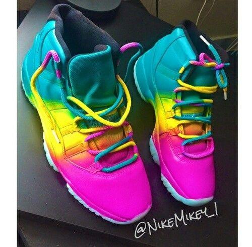 custom colorful jordan 11s - Colorful Jordan Shoes
