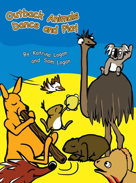 'Outback Animals Dance and Play' - Find out what some crazy, creative Australian critters get up to when our backs are turned in this beautifully illustrated, rhyming story book. From a quokka playing soccer to a kangaroo on a didgeridoo this delightful story is a colourful romp through the imagined lives of some well-known outback animals. Written by Katrina Logan and illustrated by Sam Logan. Visit www.katrinalogan.com for further information.