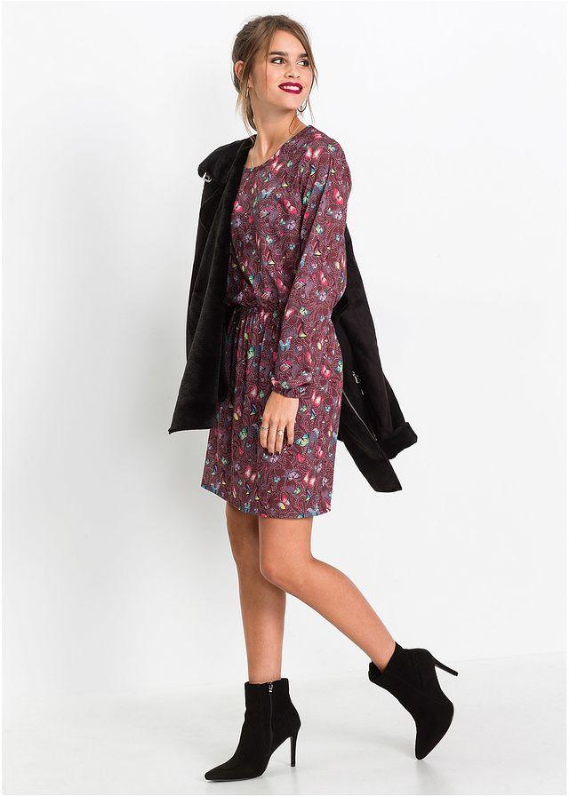 Sukienka shirtowa w kwiatowy deseń Z • 109.99 zł • bonprix