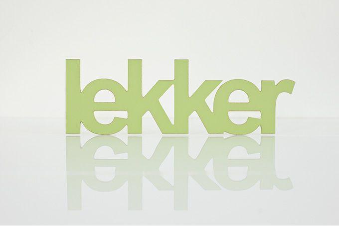 wooden words - lekker by Bokke & Blomme