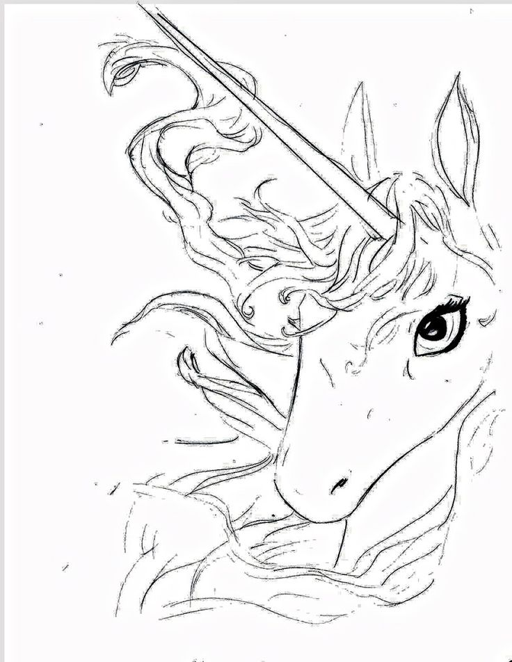 110 best unicorn coloring pages images on pinterest | drawings ... - Art Nouveau Unicorn Coloring Pages