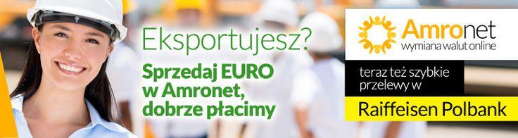 Amronet.pl II cd. Amronet.pl również dla firm, eksporterów i importerów towarów. Miliony prosperujących w Polsce przedsiębiorstw importuje również z zagranicy towary przeznaczone na sprzedaż oraz surowce lub sprzęt wykorzystywane w produkcji. W obu przypadkach pojawia się konieczność wymiany waluty, bowiem przedsiębiorca albo otrzymuje płatności w obcej walucie, albo musi opłacać w niej faktury. www.amronet.pl