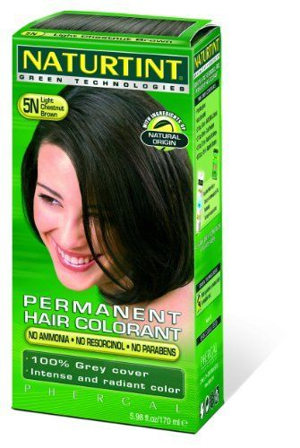 Naturtint Permanent Hair Colorant - 5.28 Ounces / Light Chestnut Brown by Naturtint. $14.99. Serving Size:. 2 Ounces Liquid. Permanent Hair Colorant with Vegetable IngredientsNaturtint Permanent Hair Colorant with Vegetable Ingredients The leading alternative hair colour in the UK health market and fastest growing colorant in Spain. 29 colours can be mixed easily & economically to create an infinite range - Colour Guide No ammonia, parabens - dermatologically tested. Cover...