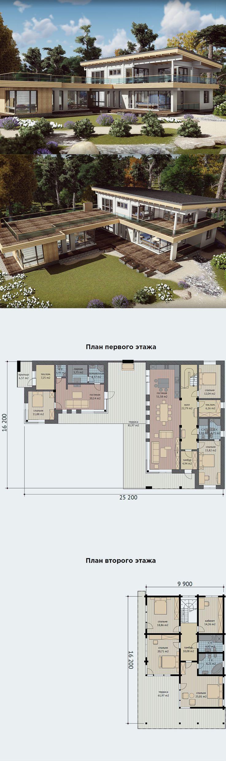 Проект дома из клееного бруса - Монтевиль.
