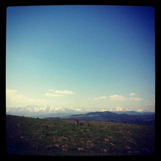 Panorama Tatr z przełęczy Snozka