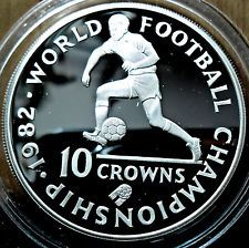 10 Crown Turks & Caicos Islands 1982 Silver proof ,World Footbal Championship