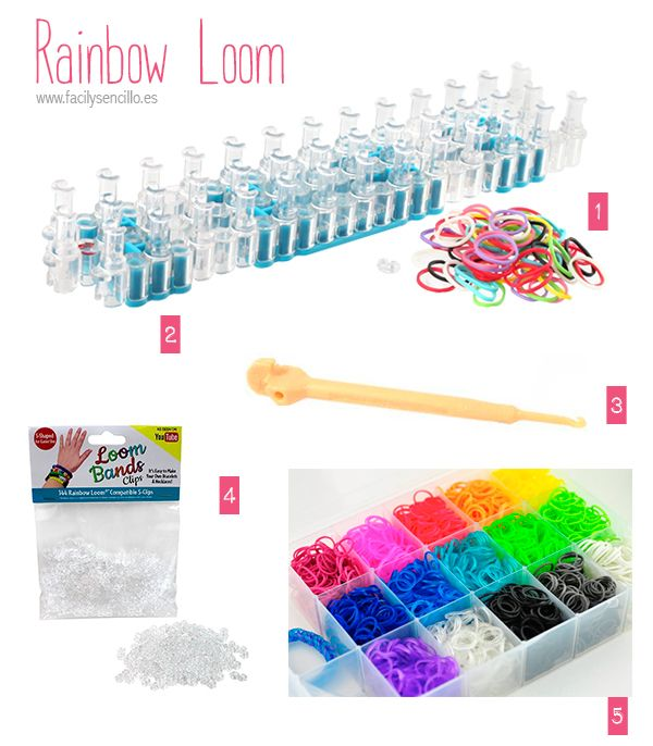 DIY · MATERIALES Y TUTORIALES RAINBOW LOOM #rainbowloom