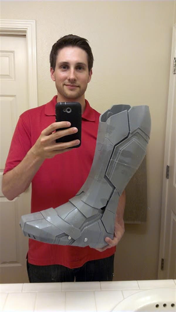 3ders.org - Artist gains foothold in 3D printing world with Iron Man MK 42 boot prototype   3D Printer News & 3D Printing News