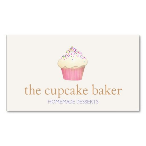 Cupcake Bakery Chef Simple Business Card Business Card Template