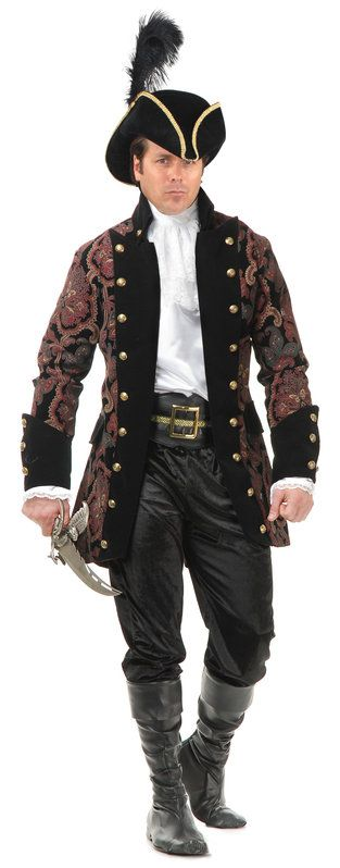 Mens Royal Pirate Rogue Adult Costume