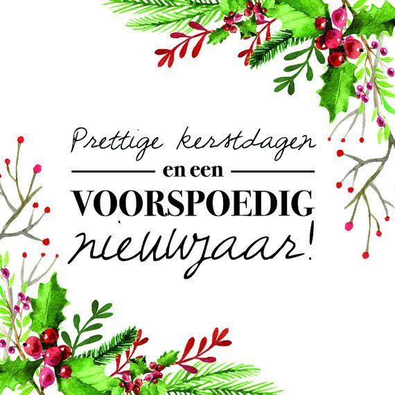 Kerstkaart met envelop  Voorspoedig nieuwjaar van PRNTenCo op Etsy
