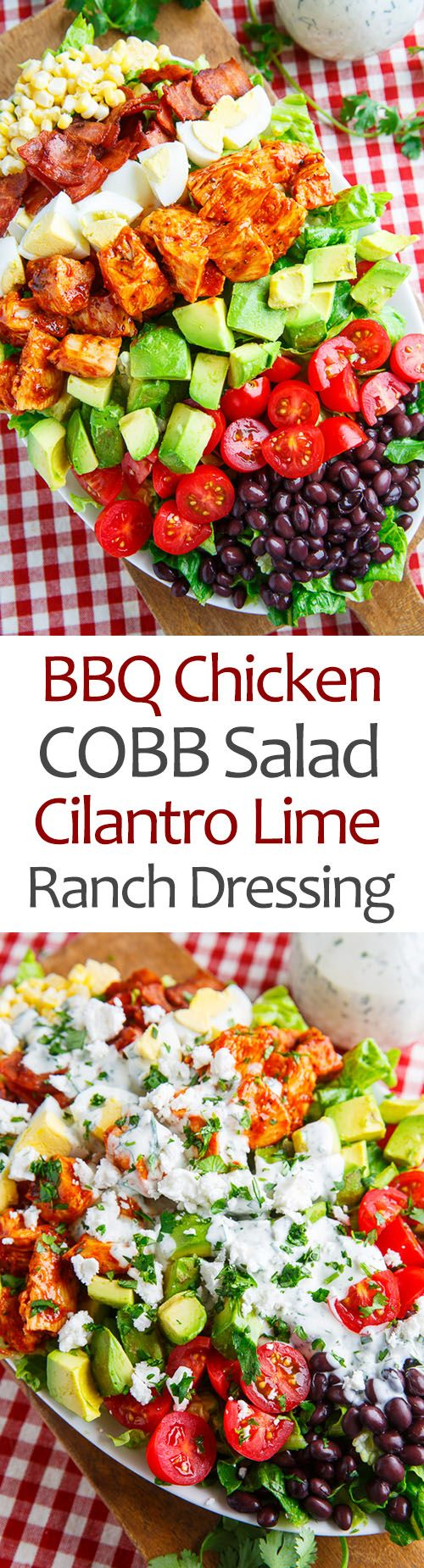 BBQ Chicken COBB Salad with Cilantro Lime Ranch Dressing from Kevin