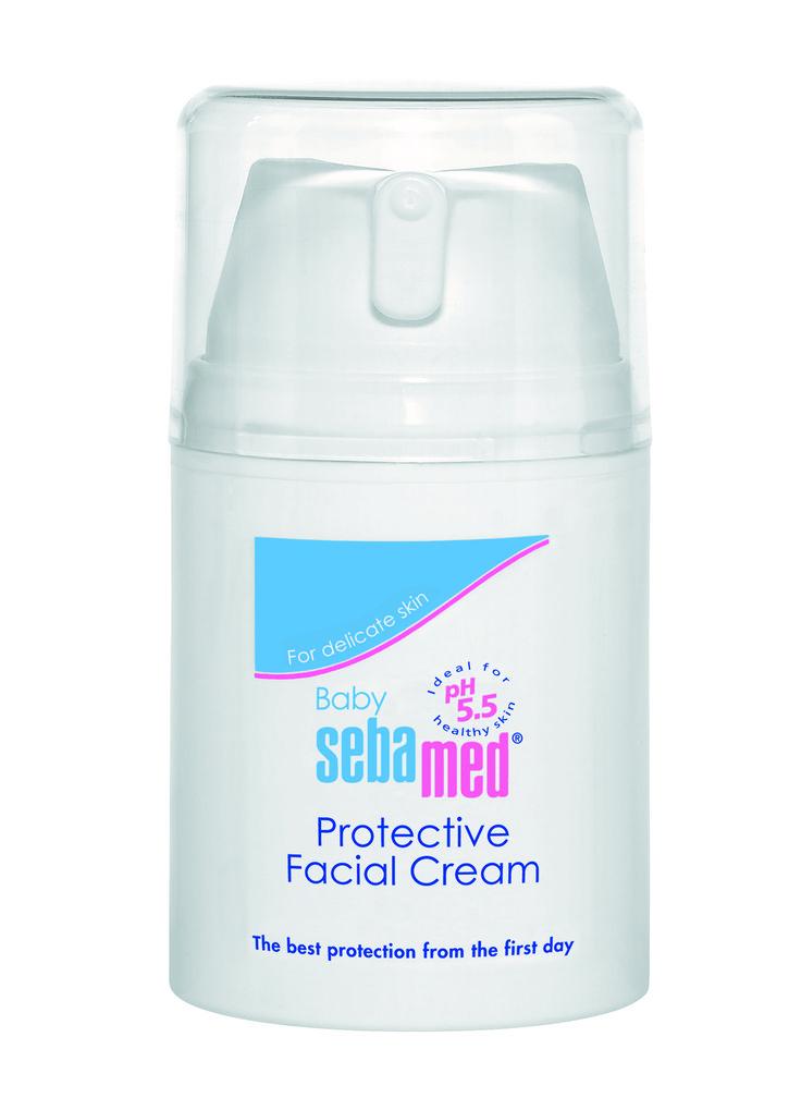 Sebamed Babaarcápoló krém 50ml - Természetes hidratáló, bőrpuhító összetevőinek (allantoin, hialuronsav) köszönhetően óvja az arcbőr lipidrétegét, védi a kiszáradástól és a nyál okozta irritációtól. E vitaminos formulája biztonságos védelmet nyújt a káros környezeti hatásokkal szemben. Érzékeny, száraz bőrre is kiváló. Alkáli-, színezék- és tartósítószer-mentes.