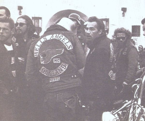 Hells Angel MC Oakland chapter founder and President Sonny Barger w/other membrs