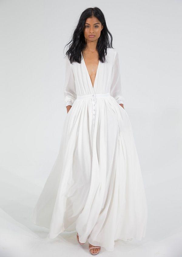 vestido de noiva casamento leve chique minimalista moda chic minimal estiloso simples