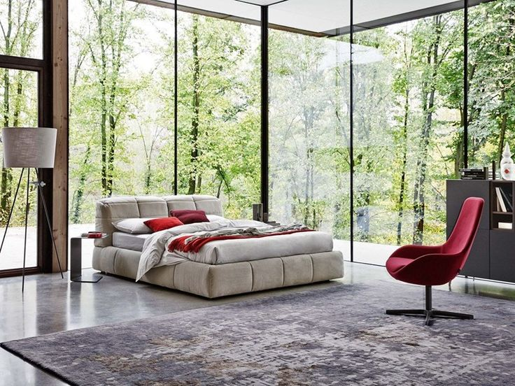 DUNN Bed with upholstered headboard by Ditre Italia design Stefano Spessotto, Lorella Agnoletto