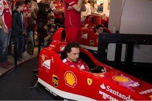 Formula Museo Ferrari Championship, il simulatore di F1, video - La sfida di portare al traguardo una monoposto del Cavallino Rampante a Monza http://www.auto.it/2014/03/31/formula-museo-ferrari-championship-il-simulatore-di-f1-video/20302/
