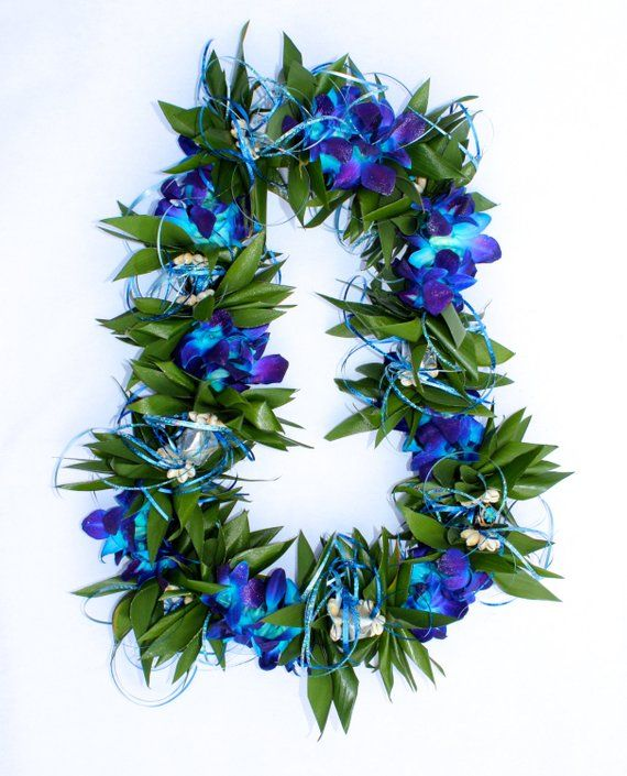 Custom Fresh Flower Ti Leaf Lei with Dendrobium Orchids – LOCAL PICKUP ONLY