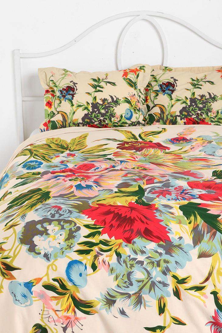Romantic Floral Scarf Duvet Cover April 2017