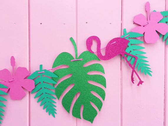 Tropical Flamingo Banner