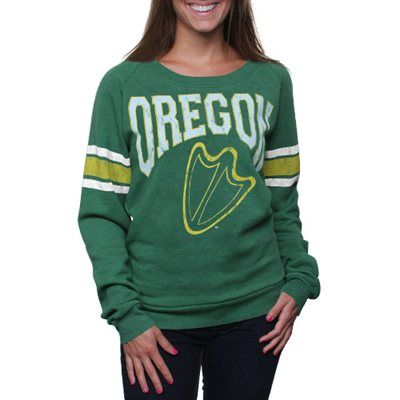 oh i want this!!!!!  Oregon Ducks Women's Slouchy Pullover Sweatshirt - Green