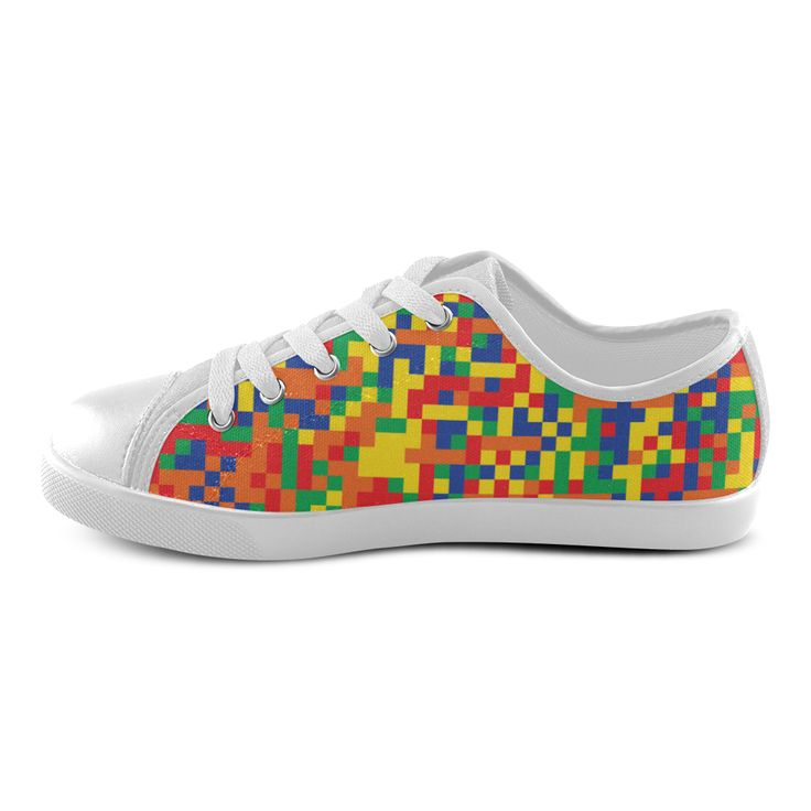 Kids pixel shoes. New arrival in shop! Fantasy Art collection 2016 Canvas Kid's Shoes (Model 007).