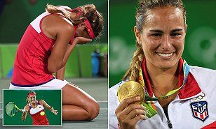 Puerto Rico'sMonica Puig wins country's first gold medalin the women's tennis singles final | Daily Mail Online