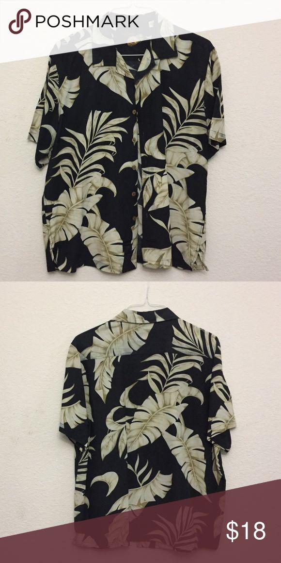Caribbean Brand Shirt 70% Silk and 30% Linen Caribbean Shirts Casual Button Down Shirts