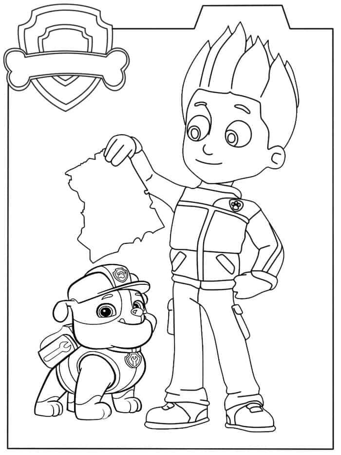 Paw Patrol Ryder Coloring Pages From Paw Patrol Coloring Pages