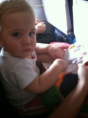 Parenting the Pipsqueak: Baby's First Plane Ride. Tips and toys to keep baby busy and happy on your flight!