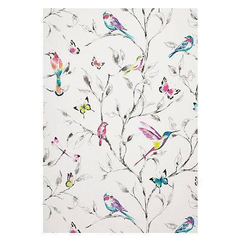 Buy John Lewis Hummingbird Trees Wallpaper, Multi Online at johnlewis.com
