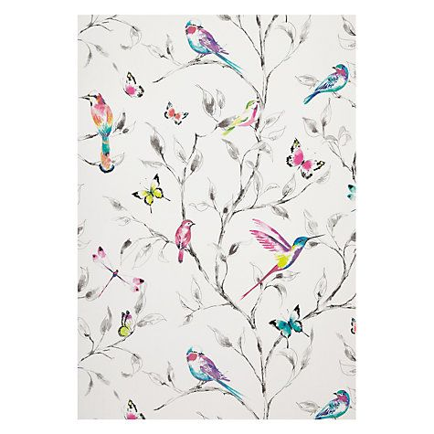 Buy John Lewis Hummingbird Trees Wallpaper, Multi Online at johnlewis.com