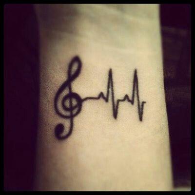 Musical wrist tattoo