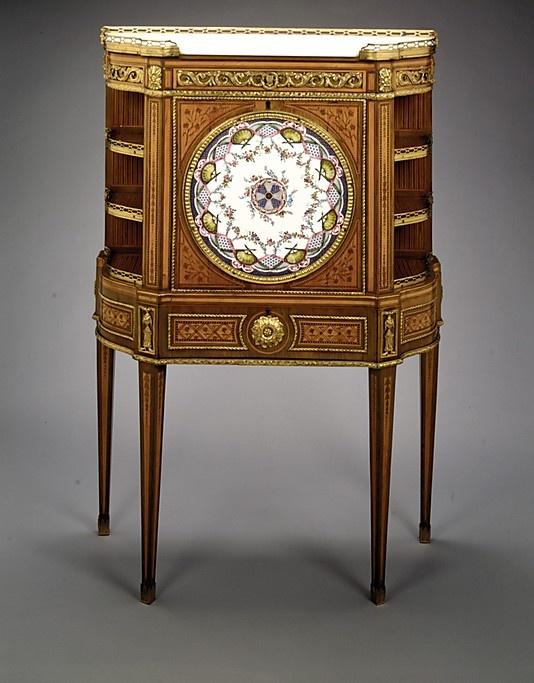 Upright Secretary  Roger Vandercruse called Lacroix  (1728–1799)  Factory: Porcelain plaques by Sèvres  Date: porcelain ca. 1764, secretary ca. 1775