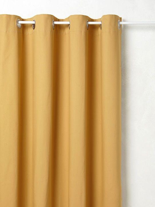 Une jolie gamme de coloris pour toute la maison. Rideau en pur coton bien épais pour un tomber parfait. Très bonne tenue des coloris au lavage et à la