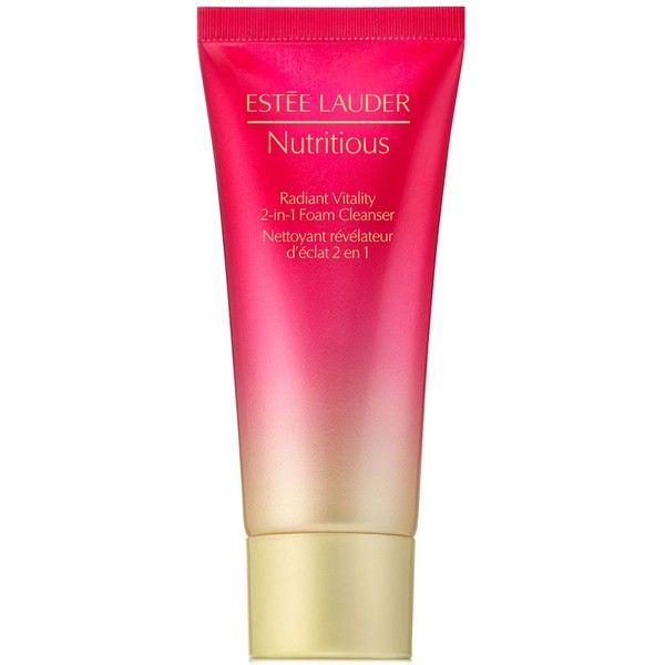 Estee Lauder Nutritious Radiant Vitality 2-in-1 Foam Cleanser Travel... ($10) ❤ liked on Polyvore featuring beauty products and no color