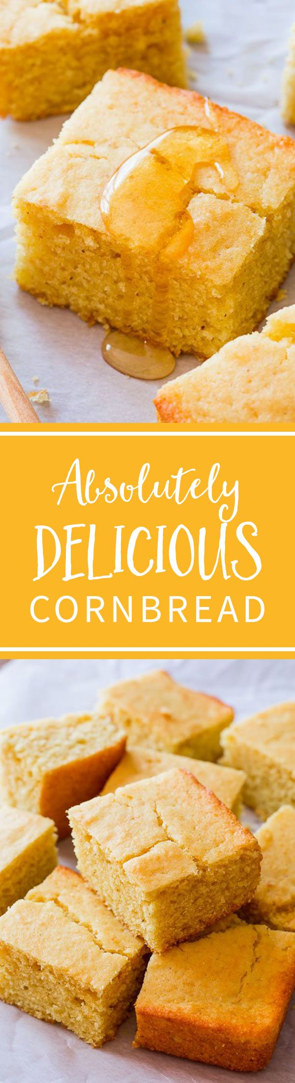 With its full flavor, tender texture, and crunchy/honey/buttery edges, it's easy for me to say that this is my favorite cornbread recipe! Recipe at sallysbakingaddiction.com (Baking Bread Quotes)